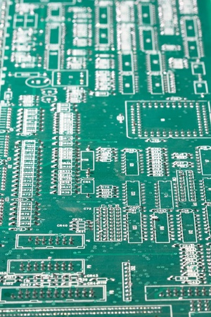 Circuit board shallow DOF photo
