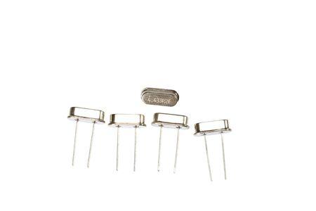 crystal oscillators isolated Stock Photo