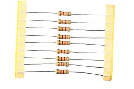 Resistors in package isolated Stock Photo