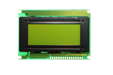 LCD screen isolated