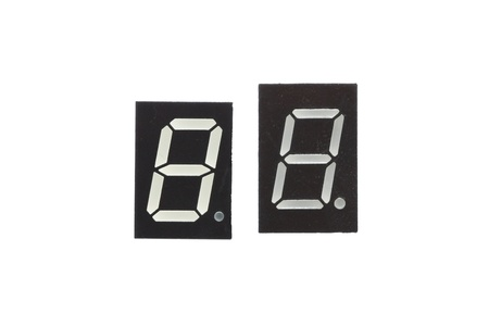 Seven segment displays isolated photo