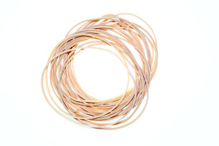 Rubber bands isolated Stock Photo