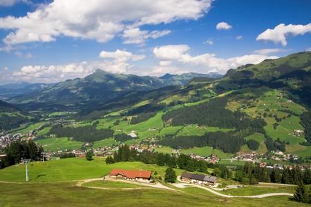 Paisaje del valle del Tirol, Austria Foto de archivo - 4182094