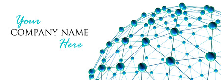 ネットワーク、通信とグローバルなネットワー キングの概念と抽象的な地球地球のアイコンの 3 d レンダリング