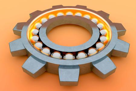 Steel ball bearing. 3d illustration