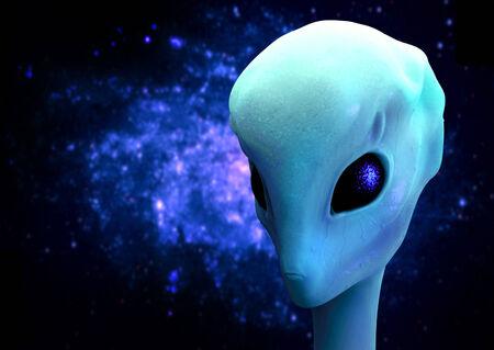 alien head: alien 3d render