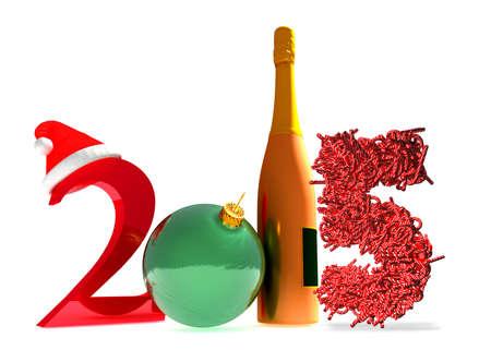 3D-Rendering Des Neuen Jahres 2015 Und Glückliches Neues Jahr Gruß ...