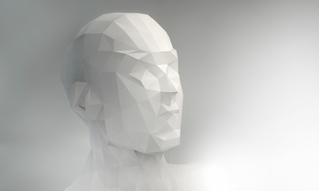 3D stylized man head photo