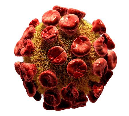 Detailed 3d illustration of HIV Virus isolated on white background illustration