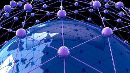 global communication: 3d illustration of  Internet Concept of global business, global network , international networking concept Stock Photo