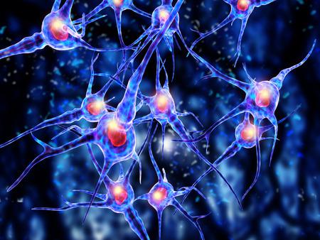 3d illustration of  nerve cells Banque d'images