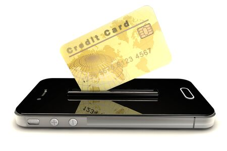 Credit Card and mobile phone photo