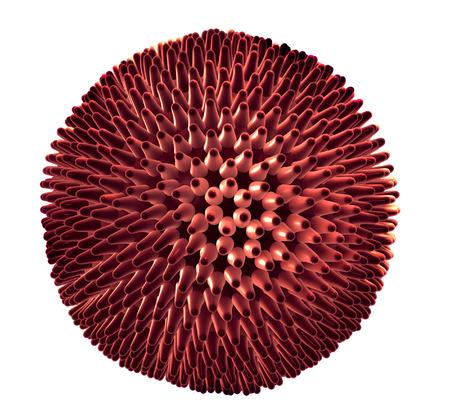 human  papillomavirus: Detailed 3d illustration of Virus isolated on white background