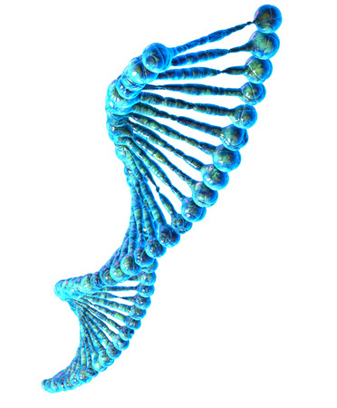 blue dna: High resolution 3d render of human dna string