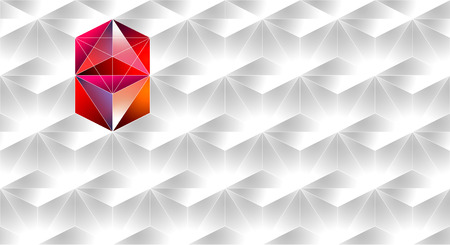Abstract business card template. Abstract pattern - repeat geometric triangle mosaic background