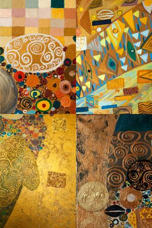 Texture, sfondo e immagine colorata di una composizione originale di pittura astratta, olio su tela