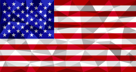 United States Of America Flag In Flat Polygon