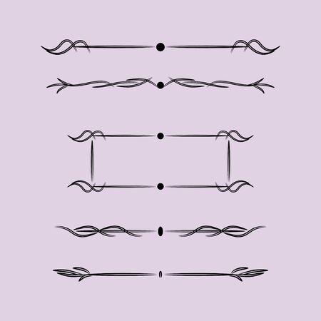 Éléments de design vintage avec des lignes, éléments de design vintage avec des lignes Vecteurs