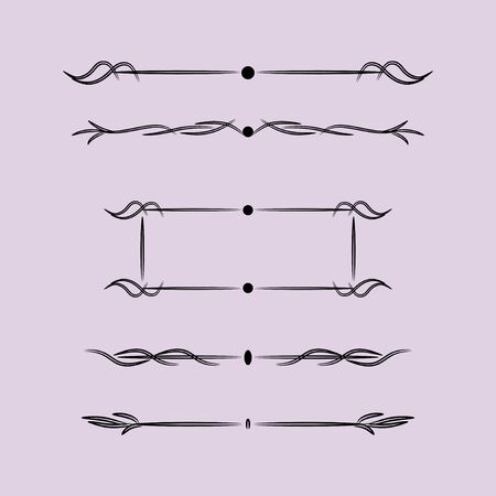 Vintage Design Elements With Lines, Vintage Design Elements With Lines Vektorové ilustrace