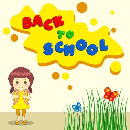 Illustration back to school with a bag Illustration