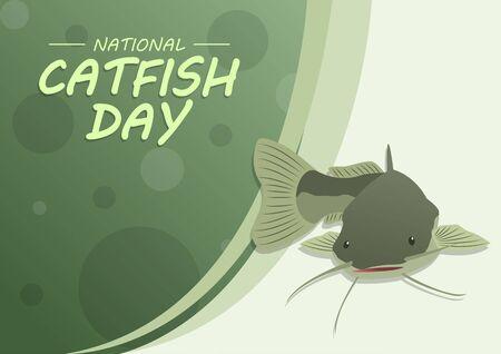 National Catfish Day, Horizontal Poster Template
