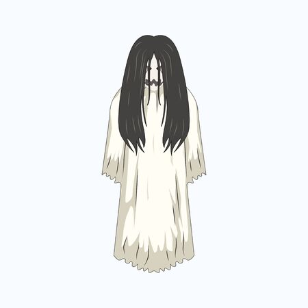 White Lady Cartoon Ghost Character, White Lady Cartoon Ghost Character