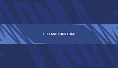 Abstract Blue Channel Banner Template for your channel Vektorové ilustrace