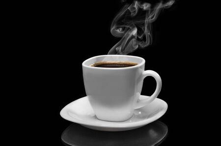 Very hot coffee Stock Photo