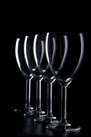 A row of elegant glasses Stock Photo