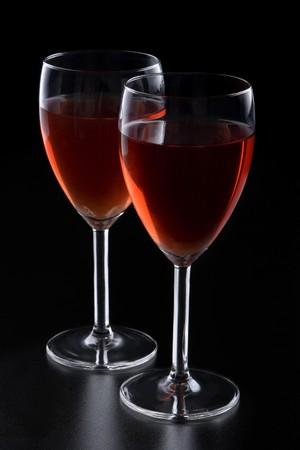 Two glasses of red wine Фото со стока