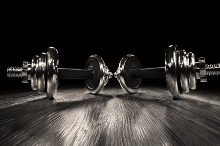 wide-angle view: the dumbbell