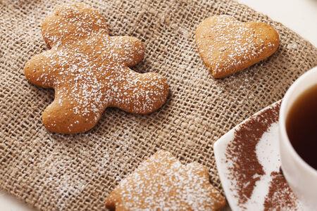 galletas de jengibre: deliciosas galletas de jengibre Foto de archivo