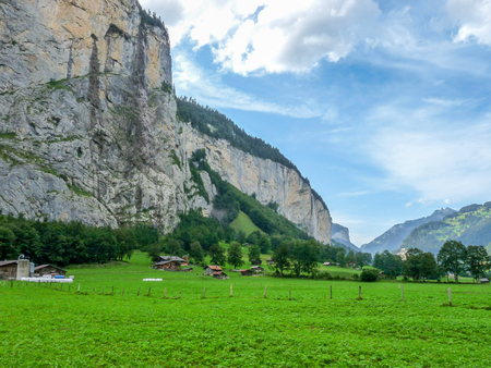 Swiss alps at Lauterbrunnen, Switzerland Stock Photo