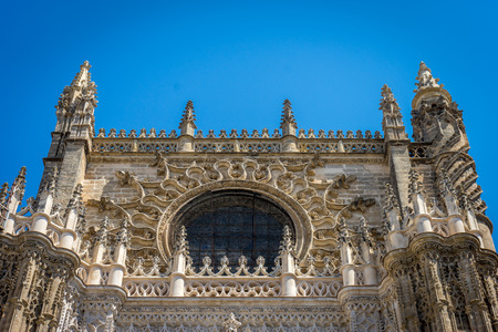 The Cathedral in Seville, the worlds largest gothic cathedral built on the site of a former mosque