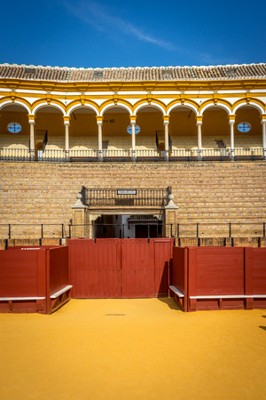 The bull fighting ring at Seville, Spain, Europe Editorial