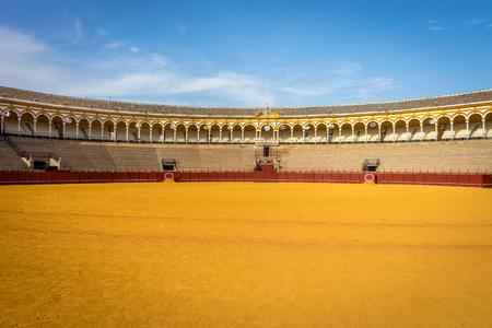 De stierenvechtenring in Sevilla, Spanje, Europa Redactioneel