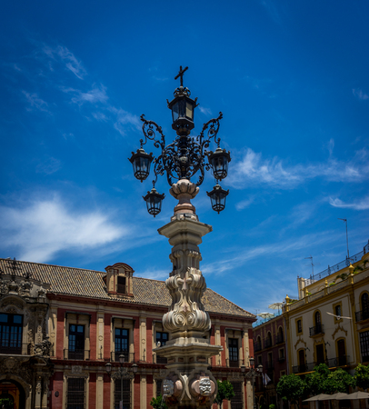 A lampost in Seville, Spain, Europe
