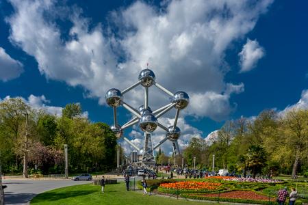The Atomium monument at Brussels Belgium, Europe