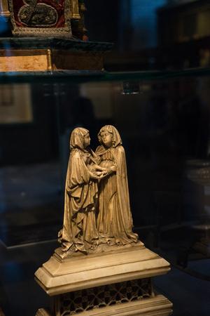 Bruges, BELGIUM - 16 April 2017: Sculpture of a apostle in a  museum in Bruges, Belgium Stock Photo