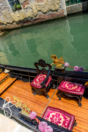 The Gondola on canal in Venice, Italy 写真素材