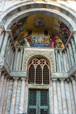 Europe, Italy, Venice, St Marks Basilica, LOW ANGLE VIEW OF ORNATE BUILDING