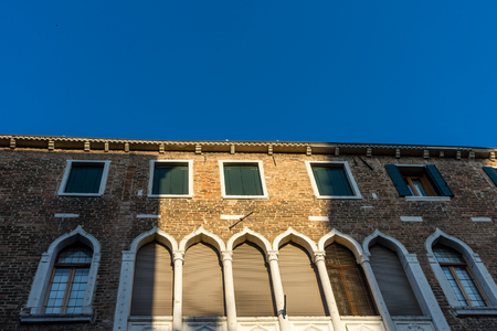 Europe, Italy, Venice, Venice, LOW ANGLE VIEW OF BUILDING AGAINST CLEAR BLUE SKY