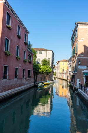 Europe, Italy, Venice, a narrow river in a city