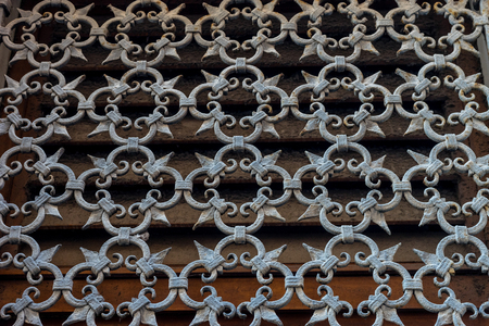 Europe, Italy, Venice, a chain link fence 写真素材