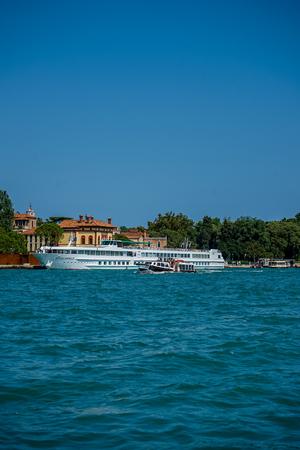 Venice, Italy - 01 July 2018: Cruise ships along the grand canal in Venice, Italy Martha Ann