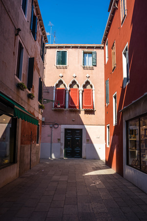 Venice, Italy - 30 June 2018: the cityscape and townscape of Venice in Italy