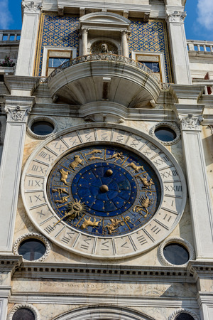 Europe, Italy, Venice, St Mark's Clocktower, LOW ANGLE VIEW OF CLOCK TOWER