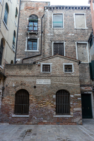Venice, Italy - 30 June 2018: Corte Licini O Del Piombo in Venice, Italy