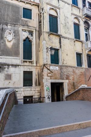 Venice, Italy - 30 June 2018: Ponte S.Agostin in Venice, Italy 写真素材 - 119279258