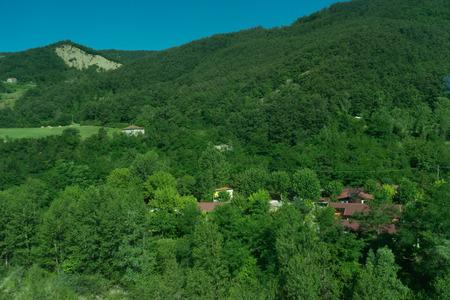 Europe, Italy, La Spezia to Kasltelruth train, a view of a lush green hillside 写真素材